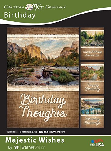 Majestic Wishes - Birthday Greeting Cards - NIV and NRSV Scripture - (Box of 12)]()
