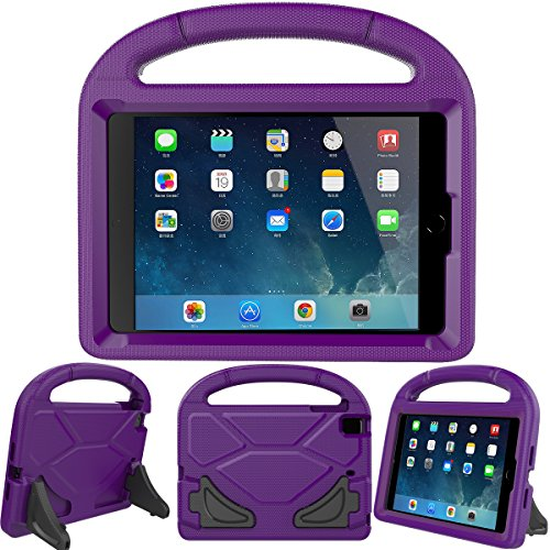 LEDNICEKER Kids Case for iPad Mini 1 2 3 4 5 - Light Weight Shock Proof Handle Friendly Convertible Stand Kids Case for iPad Mini, Mini 5, Mini 4,iPad Mini 3rd Generation, Mini 2 Tablet - Purple