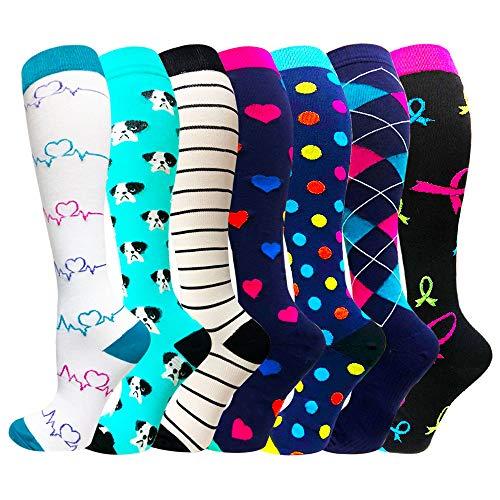 - Compression Socks For Women Men 20-25mmHg-Best Medical, Nursing, Travel & Flight Socks - Running & Fitness Compression Stockings (L/XL,Mix of Colors2)