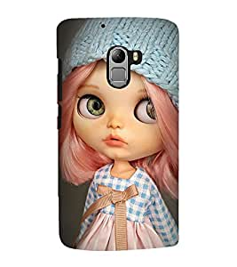 Takkloo baby doll ( cute doll, pink hair, blue cap, Grey Background, Beautiful eyes) Printed Designer Back Case Cover for Lenovo Vibe K4 Note :: Lenovo K4 Note A7010a48 :: Lenovo Vibe K4 Note A7010