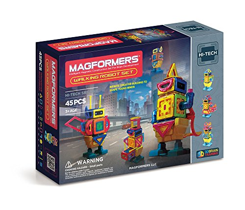 Magformers Hi-Tech Walking Robot Set (45-pieces) JungleDealsBlog.com