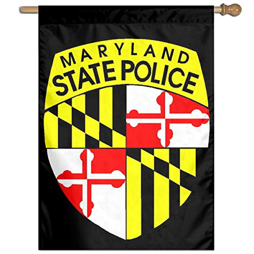 TYZBAOOSDUP The Maryland State Police House Flag Decorative Garden Flag Yard Banner Garden Flags 27x37 -
