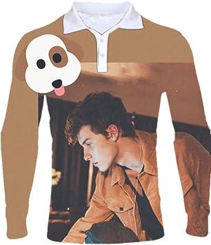 Shawn Mendes Cantante Camisas de Polo Tridimensional ...