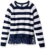 Tommy Hilfiger Big Girls' Pullover Fashion Sweater, Flag Blue, Medium