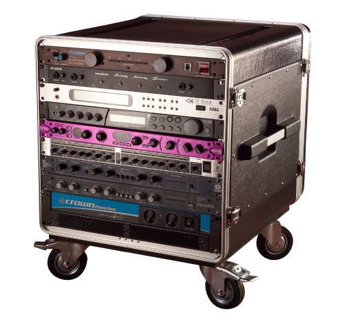 Console 4 Rack - Gator Cases Lightweight ATA Molded Console Rack Case with Heavy Duty Casters; 21