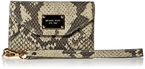 Michael Kors Natural Python Leather Wristlet Wallet Case Clutch Purse for Iphone 3 and - Case Kors Michael 4 Wallet Iphone