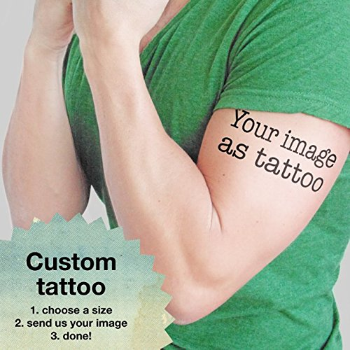 Amazon.com: Your image as tattoo - Personalized Temporary Tattoo ...