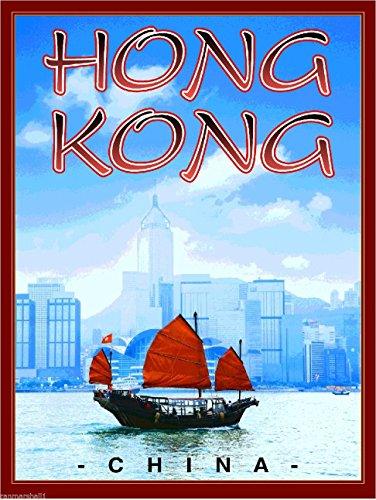 Chinese Junk Boats (MAGNET Hong Kong Junk Boat China Chinese Travel Art Magnet Advertisement)