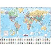 Collins World Wall Laminated Map