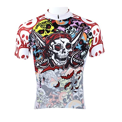 - Paladinsport Men's Pirate Style Short Sleeve Cycling Jerseys Size XXL