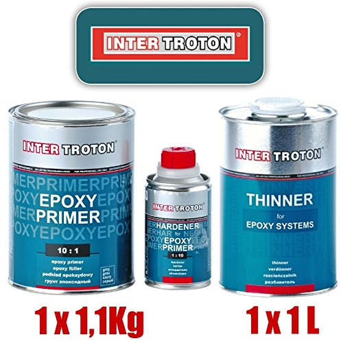 Troton EPOXY GRUNDIERUNG 10:1 Primer 2K Inter EPOXID 1, 1kg + 1 x VERDÜ NNUNG 1L 2236