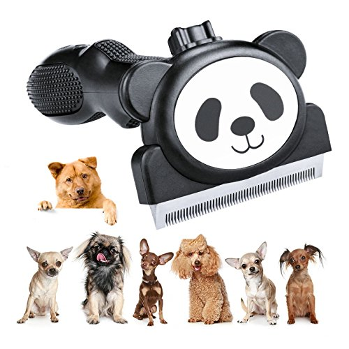 Cubbe Pet Brush, 2018 New Professional Cat Dog Grooming Brush Shedding Tool, Slicker Brush, Pet Hair Fur Removal for Dogs and Cats with Stainless Steel, Shedding Up to 95% Long Short Hair