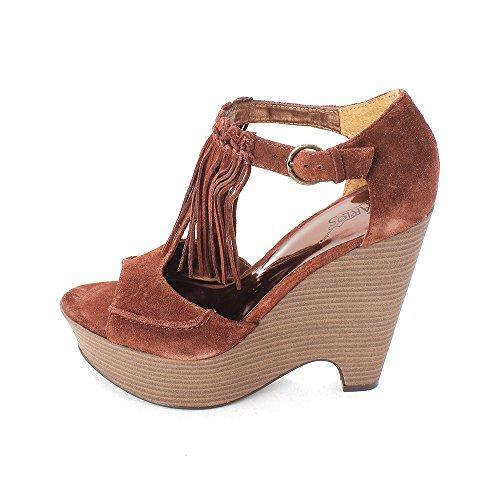 Carlos by Carlos Santana Womens Nile Open Toe Casual Platform Sandals Brown