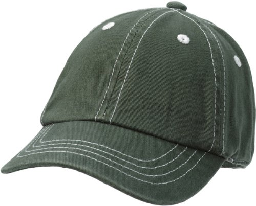 City Thread Little Boys' and Girls' Solid Baseball Hat Sun Protection SPF Beach Summer - Olive - L
