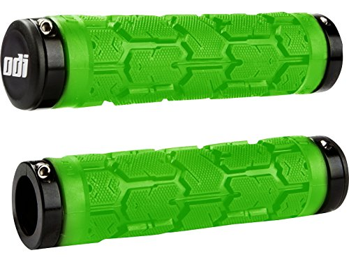 028c915d1b2 Odi Rogue Lock-On Grips w/Clamps Lime Green/Black 115mm