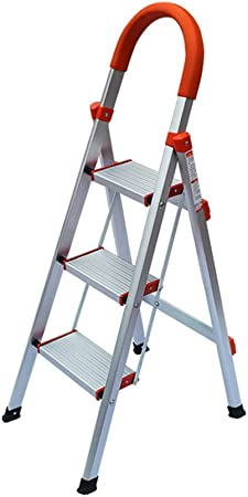 Gwgbxx Taburete de Aluminio Plegable Escalera de casa Engrosamiento Escalera de Cuatro Pasos escalón retráctil escalón (Size : 50 * 57 * 136CM): Amazon.es: Hogar