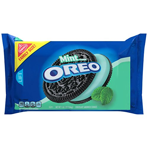 Oreo Mint Creme Chocolate Sandwich Cookies, Family Size, 20 Ounce ()