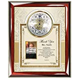 Personalized Teacher Educator Poetry Present Gifts Professor Thank You Gift Clock Photo Frame Coach Mentor Appreciation Poem Plaque