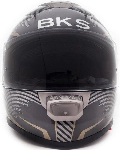 Amazon.es: BKS tapa de flujo de moto casco Moto Casco, Racing J & S (gran flujo de l 60 cm, dorado)