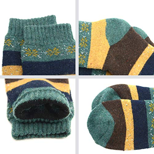 Winter Cabin Socks for Women Vintage Warm Soft Thick Wool Sock Girls Crew Socks