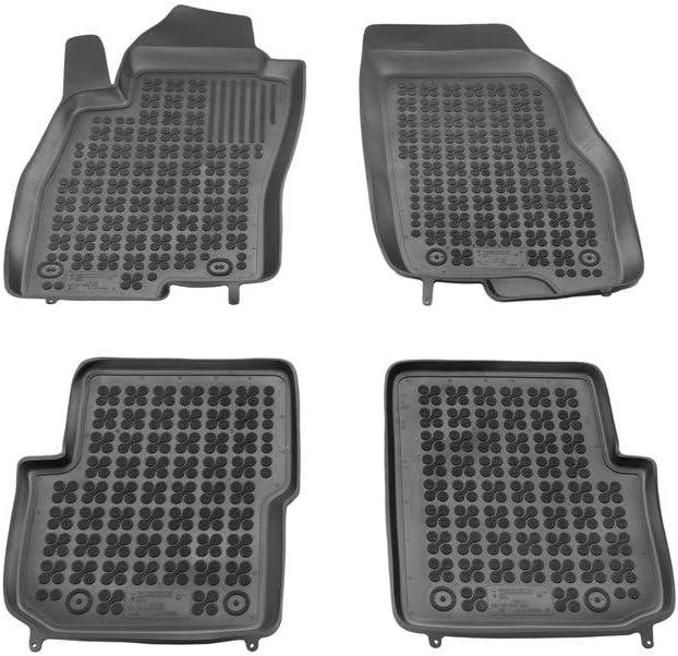 lavbile e ritagliabile per Maggiore adattabilit/à Resistente inodore Set tappeti Auto per Punto Evo in Gomma Antiscivolo