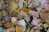 100 PIECES WHOLESALE LOT 2cts TO 6cts AAA GRADE MULTI FIRE ETHIOPIAN OPAL ROUGH RING PANDENT JEWELRY USES MANS WOMENS