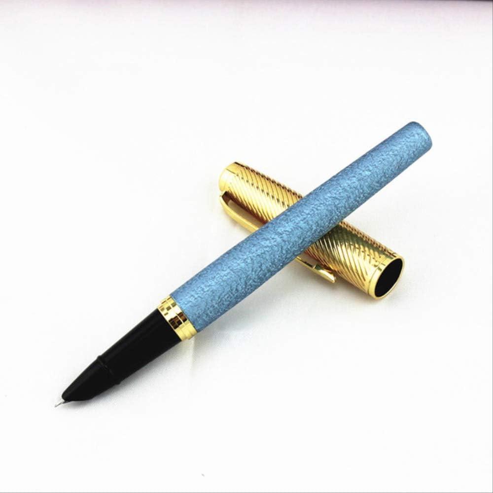 Pluma estilogr/áfica PXNH Mediana 0,38 mm Punta Reemplazar tinta Pluma azul Caligraf/ía estudiantil Papeler/ía comercial /Útiles escolares 14 cm S