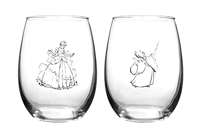 Disney Collectible Wine Glass Set (Cinderella)