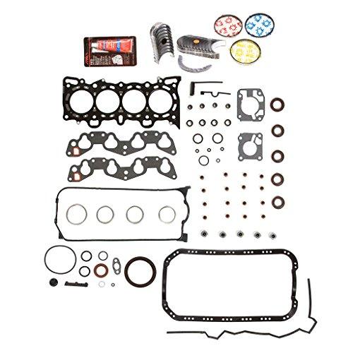 Evergreen Engine Rering Kit FSBRR4028EVE\0\0\0 Fits 92-95 Honda Civic Del Sol D16Z6 Full Gasket Set, Standard Size Main Rod Bearings, Standard Size Piston Rings