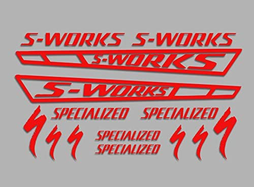 Red Ecoshirt 3K-NZJ0-4AQD S-Works F54 Stickers Aufkleber Decals Autocollants Adesivi Sworks Bike