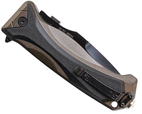 NEW-Magic-Assisted-Brown-Aluminum-With-Overlay-Handle-Black-Combo-Knife-Perfect-For-Your-Zombie-Survival-Kit