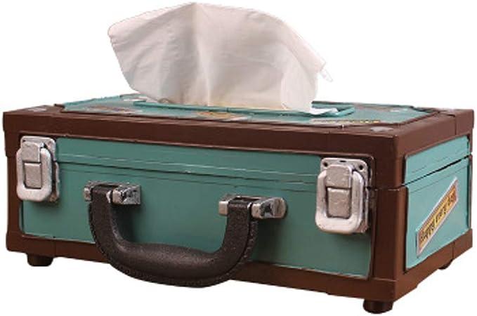 Soyizom Vintage Style Rectangle Tin Tissue Paper Box Paper Towel Box Tissue Holder Tissue Box Cover Kitchen Storage Organization for Home Decoration