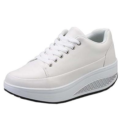 Solshine Zapatillas de casa Mujer, Color Blanco, Talla 35 EU/3 UK/5 US