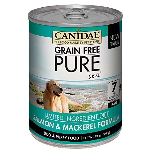 Canidae Fish Food - Canidae Grain Free Pure Sea Dog Wet Formula With Salmon & Mackerel, 13 Oz (12-Pack)