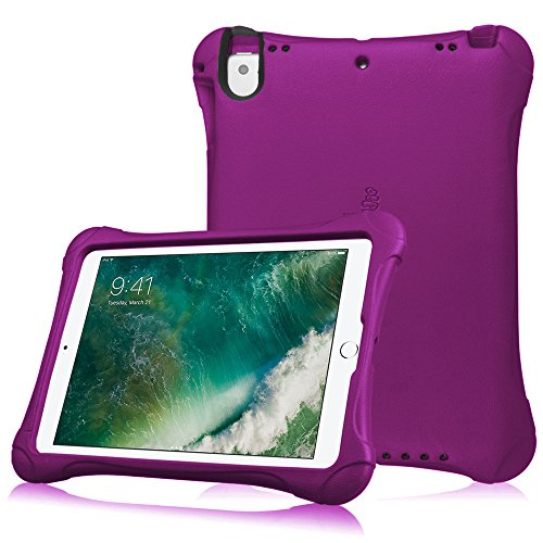Fintie Case for Apple iPad 9.7 2018 2017 / iPad Pro 9.7 / iPad Air 2 / iPad Air - Light Weight Shock Proof Impact Resistant Bumper Kids Friendly Protective Cover, Purple