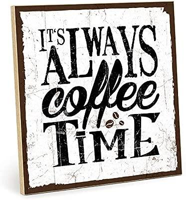 Cartel de madera, diseño con texto - Coffee Time - Vintage ...