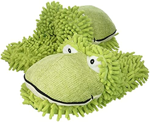 e57223cc165 Amazon.com  Aroma Home Aromahome Animal Fuzzy Friends Warm Womens Slippers  Frog  Health   Personal Care