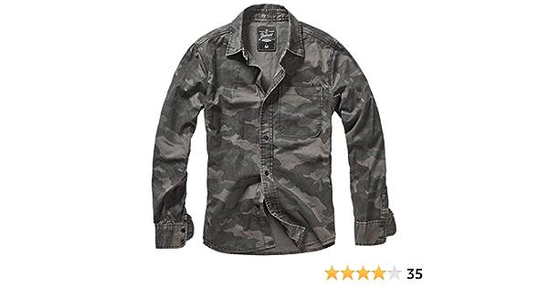 Brandit Josh Shirt Camo Camisa Casual para Hombre