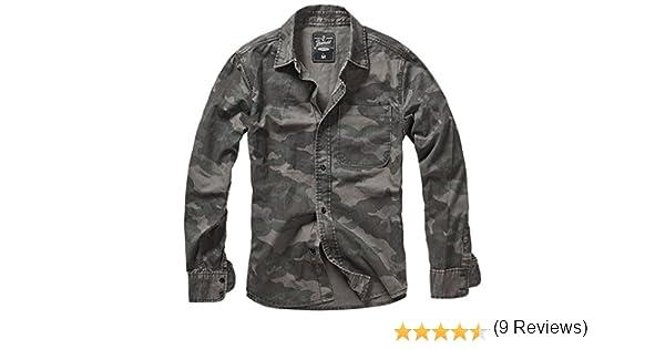 Brandit Josh Vintage Camisa Casual, Multicolor (Dark Camo 4), XL para Hombre: Amazon.es: Ropa y accesorios