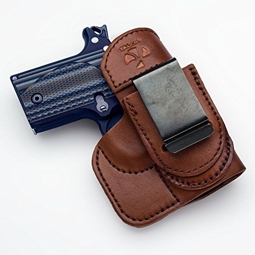 Talon Holsters Compatible Sig Sauer P-938 TuckableIWB Concealed Carry LeatherHolster (Brown, Right Hand)