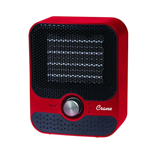 Crane USA Personal Space Heater Plastic, Red, 1 ea