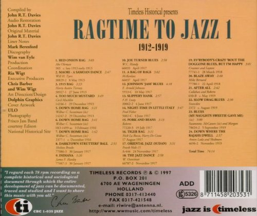 From Ragtime to Jazz by Timeless Holland