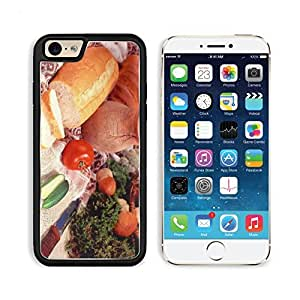 Cucumber Bread Tomato Baked Goods Herbs Knife Apple iPhone 6 TPU Snap Cover Premium Aluminium Design Back Plate Case Customized Made to Order Support Ready Liil iPhone_6 Professional Case Touch Accessories Graphic Covers Designed Model Sleeve HD Template wangjiang maoyi