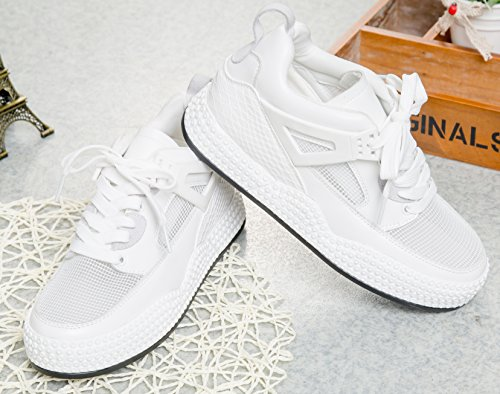 D2c Beauty Lace-up Damesmodel Ademend Bungee Fashion Sneakers Wit