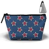 Bing4Bing Oxford Fabric Red Star Type Trapezoid Receive Bag,Sewing Kit Cartridge Bag Cosmetic Bag Storage Bag