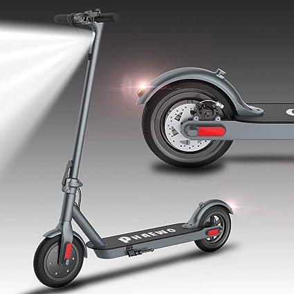 Patinete Eléctrico adultos, Plegable luz LED, 15/18/25KM/H,scooter ultraligero E, neumáticos de retroceso, motores eléctricos de 6,5