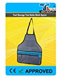 TK9KÂ - Tool Storage Tool Belts Work Apron Adjustable Lightweight, tear and stain resistant nylon. Adjustable neck and waist fastenings. Reinforced tool pockets. Colours may vary. by SILVERL