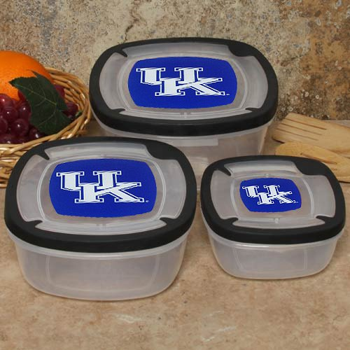 (NCAA Kentucky Wildcats 3-Pack Square Food Containers)