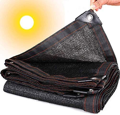 DLHXD schaduwnet zwart zwart zonnescherm schaduwdoek schaduwdoek voor buiten tuin zonwering vleestachtige zonwering op het balkon 2 x 1 m
