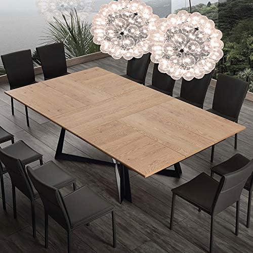 Warren Extendable Table For 10 People Wood And Metal Amazon De Kuche Haushalt